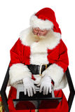 Santa in linea immagini stock