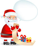 Santa with a Lis. Santa Claus checking his list of boys and girls, vector illustration, an addition format is available Stock Images