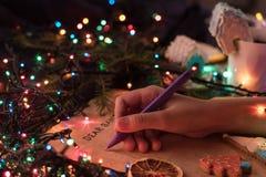 Santa list Obrazy Royalty Free