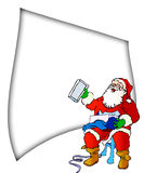 Santa list. And christmas  presents Royalty Free Stock Images