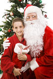 Santa and Little Boy on Christmas Royalty Free Stock Photo