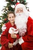 Santa and Little Boy on Christmas Royalty Free Stock Photo
