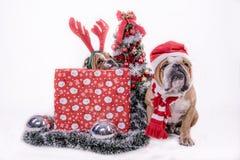 Santa and little helpper Stock Image