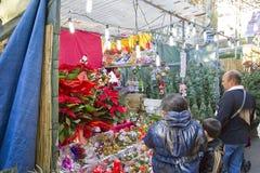 Santa Llucia Christmas Fair, Barcelona Imagen de archivo