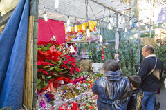 Santa Llucia Christmas Fair, Barcelona Stock Image