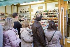 Santa Llucia Christmas Fair, Barcelona Stock Photo