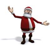 Santa lo accoglie favorevolmente Immagini Stock