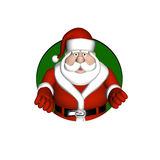Santa Looking through a Circle Royalty Free Stock Images