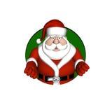 Santa Looking through a Circle vector illustration