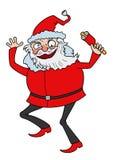 Santa louca ilustração stock