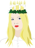 Santa Lucía con la corona de velas Imagen de archivo