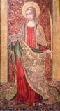 Santa Lucía o Lucy - pintura en Valencia fotografía de archivo libre de regalías