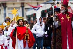 Santa Lucia Children's Procession Stock Photo