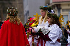 Santa Lucia Children's Procession Royalty Free Stock Image