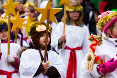 Santa Lucia Children's Procession Royalty Free Stock Photography