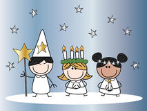 Santa lucia christmas tradition Stock Image