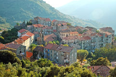 Santa Lucia di Tallano village, Corsica Royalty Free Stock Photo