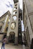 Santa lucia elevator in lisboa Stock Image