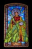 Santa Lucia en verre souillé Photographie stock libre de droits