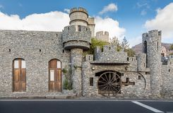 Santa Lucia, Gran Canaria na Espanha - 13 de dezembro de 2017: La Fortaleza de Castillo de, museu privado Fotografia de Stock