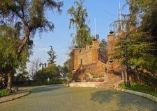 Santa Lucia Hill in Santiago de Chile. Chile, Santiago, View of the Santa Lucia Hill stock images