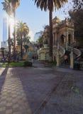 Santa Lucia Hill in Santiago de Chile Stock Photo