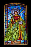 Santa Lucia i målat glass Royaltyfri Fotografi