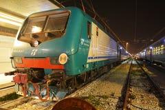 Santa Lucia stacja kolejowa i pociągi, Wenecja, Włochy Zdjęcie Stock