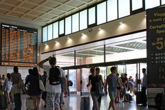 Santa Lucia-station in Veneti? Itali? royalty-vrije stock foto