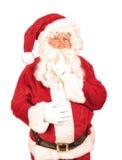 Santa Mówić Shush Obrazy Royalty Free