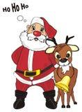 Santa mówi ho ho ho royalty ilustracja