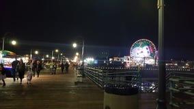 Santa Mônica pier at night stock photo