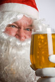 Santa Mad For Beer Stock Images