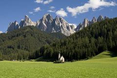 Santa Maddalena di Funes Royalty Free Stock Photo