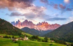 Santa Maddalena, Dolomites, Italy Royalty Free Stock Images