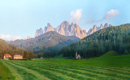 Santa Maddalena, Val Di Funes, Dolomites, Italy Royalty Free Stock Photography