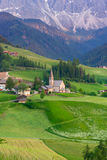 Santa Maddalena village in front of the Odle Dolomites Group Stock Images