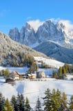 Santa Maddalena w zimie Obrazy Royalty Free