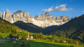 Santa Maddalena in the warm afternoon sunlight Stock Photo