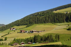 Santa Magdalena village in Val di Funes, Stock Photography
