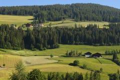 Santa Magdalena village in Val di Funes, Royalty Free Stock Image