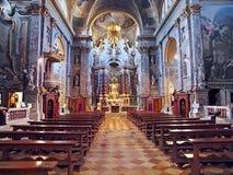 Santa Maia de Nazareth eller Chiesa degliScalzi kyrka i Venedig royaltyfria bilder