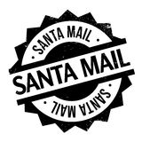 Santa Mail rubber stamp Royalty Free Stock Images