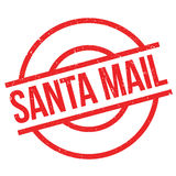Santa Mail rubber stamp Stock Images