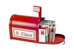 Santa Mailbox Full Of Mail imagens de stock royalty free