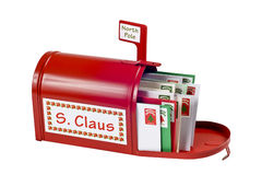 Santa Mailbox Full Of Mail Royalty Free Stock Images