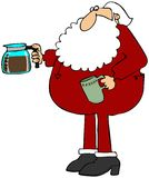 Santa making coffee Stock Photos