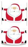 Santa making splits. Cartoon Santa making splits. Vector illustration Stock Photos
