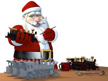 Santa Making Toys Royalty Free Stock Images