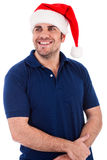 Santa man posing Royalty Free Stock Photo